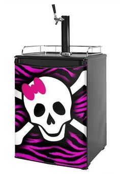 Kegerator Skin - Pink Zebra Skull (fits medium sized dorm fridge and kegerators) by wallthat. $66.58. 1 Piece Skin - Measures 28.75 inches x 41 inches. Made in the U.S.A.. READ PRODUCT DESCRIPTION (refrigerator not included). NO STICKY MESS - Leaves no sticky residue when removed.. Installation Instructions: Required Tools: Sharp Utility Knife. Our refrigerator skins are made so that one size fits most medium size dorm and keg fridges. This means the skins are ...