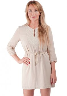 Sequined Embroidered Shift Dress Beige 38,90 € #happinessbtq