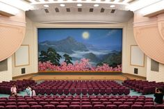 North Korea meets Wes Anderson In what was likely one of the most unexpected surprises in the life of architecture critic Oliver Wainwright, his trip to North Korea revealed a variety of spaces with. Interior Architecture, Interior And Exterior, Inside North Korea, Wes Anderson Movies, Pastel Interior, Building Design, Interior Design Inspiration, Decoration, Set Design