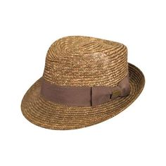 Kangol Wheat Braid Arnold Trilby - Tan ($55) ❤ liked on Polyvore featuring accessories, hats, tan, kangol, trilby hat, band hats, straw trilby hat and kangol hats