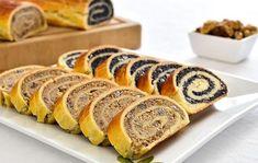Baigli sau beigli este un cozonac unguresc cu umplutura bogata de nuca sau mac. Sweets Recipes, Just Desserts, Baking Recipes, Cookie Recipes, Hungarian Desserts, Hungarian Recipes, Romanian Food, Pastry And Bakery, Dessert Bread