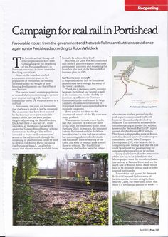 Rail Professional Magazine - article on the plan to reopen the Portishead Branch