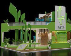 Taya booth design in ksa Stand Design, Booth Design, 3d Design, Fruit And Veg Shop, Exhibitions, New Work, Concept, Display, Pop