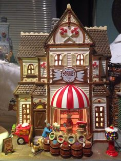 """2013 Collection  """"Sophie's Sweet Shop"""" Grinch Christmas Tree, Christmas Town, Christmas Scenes, Christmas Design, Christmas Holidays, Christmas Crafts, Christmas Decorations, Xmas, Lego Winter Village"""
