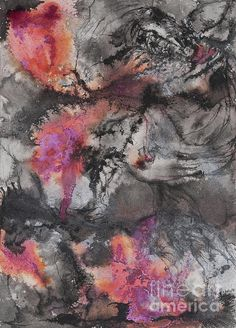 Storm Shimmer - painting by Fennel Blythe fineartamerica.com #abstractart #abstractpainting #stormy