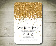 ALL THAT GLITTERS - Custom Personalised Printable Invitation