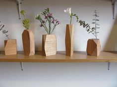 Wooden vases. All the better for certain cats to knock down.
