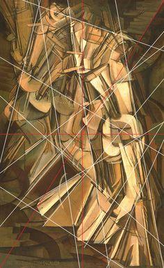 rocbo : Géométrie des peintres, Duchamp Marcel, Nu descendant l'escalier