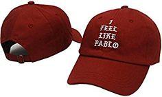 I Feel Like Pablo Hat Cap In Burgundy Yeezy Yeezus Baseball The Life Of Pablo