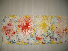 Jasmina Vladimirova 045 Aurore Matin Jour Soir  100x50 cm, quadriptich  50x25 cm Huile sur toile Collection privée