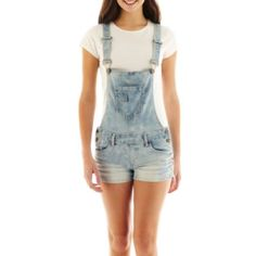Blue Spice Light Wash Short Overalls  found at @JCPenney