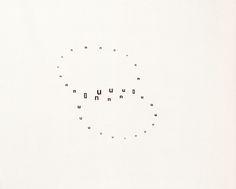 Visual-Poetry — by gerhard rühm Gerhard Rühm, Typography Letters, Lettering, Blackout Poetry, Shel Silverstein, Rainer Maria Rilke, Kurt Vonnegut, Walt Whitman, John Keats