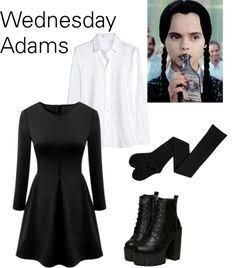 620786c7a23 Find This Pin And More On Halloween 18 By Susan Kokoris. Sc 1 St Pinterest.  image number 19 of wednesday addams costume ...