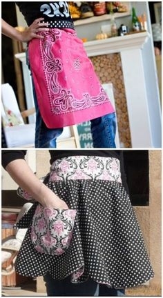 Free Sewing Pattern:; love the aprons....