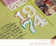 Scrapbook inspiration. Embroidery. Artist: Lisa Dickinson. I. Love. This.