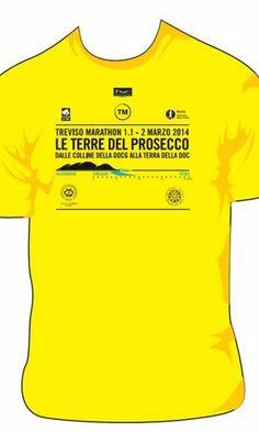 The new Treviso Marathon 1.1 shirt, featuring Prosecco DOC and Conegliano Valdobbiadene Prosecco Superiore DOCG