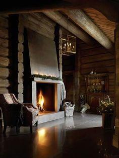 decor, interior, cabin, lodg, dream, wood hous, fireplaces, chalet, log