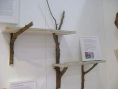 branch shelving brackets... love the two levels