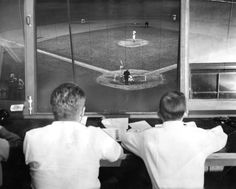 A view from Derks Field's press box is seen in 1950. (Tribune file photo)