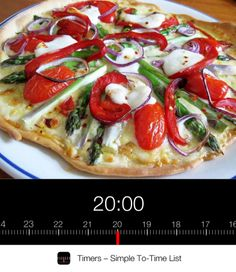 Skinny Vegetarian Pizza. Cook it just right with Timers. Only on the App Store.