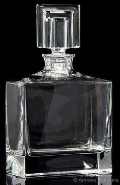 BUY on ETSY: 3.9 Lbs Thick Lead Crystal Whiskey Decanter, Cognac Spirits Bottle, Bar Accessory