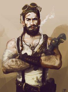 Sky Captain: Duke Wyndewalker by Tara Phillips  #Windforge #IndieGame #Steampunk #Kickstarter  http://www.steampunktendencies.com/post/66685655499