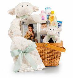 Baby Gift Baskets: Little Lamb Baby Gift Set