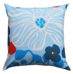 Marimekko Pillow. Kukka Blue.