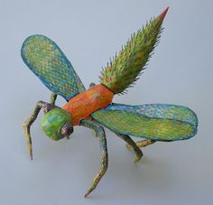 Project Insect, paper mache