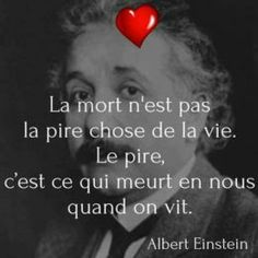 fr - The best pictures and jokes on the net! Good Quotes For Instagram, Dark Quotes, Philosophy Quotes, French Quotes, Yoga Quotes, Sweet Words, Positive Attitude, Albert Einstein, Positive Affirmations