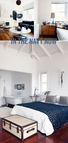 I usually like bright colors... but this is so what my beach house would look like if I had one - can you smell the ocean??