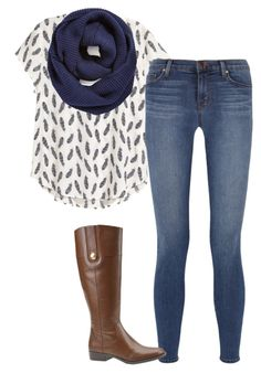 """""""Untitled #1075"""" by ncmilliebear ❤ liked on Polyvore featuring H&M, BP., J Brand and Tommy Hilfiger"""