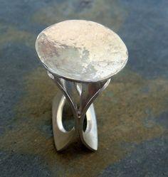 Chinese S925 Silver & Natural Green Jadeite Jade Rare No.8-12 Saddle Shape Ring Antiques Jade/hardstone