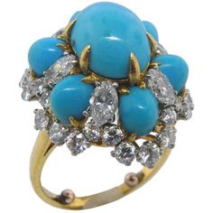 Bulgari turquoise ring, a girl can dream.