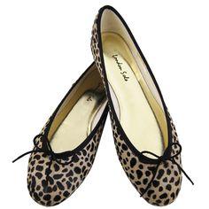 London Sole leopard spot ponyhair ballet flat $165 PT124