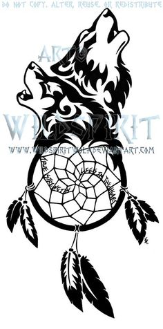 5038e013e Wolf Couple Tattoos · Wolf Couple Tattoo Pawprint dreamcatcher tattoo Dream  Catcher Drawing, Dream Catcher Tattoo, Wolf And