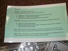 5th grade math centers - pass out...click the picture to see the directions up close.