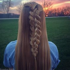 pretty 5 strand braid from creative.braids