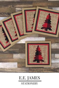 Stamped Christmas Cards, Christmas Card Crafts, Christmas Cards To Make, Plaid Christmas, Xmas Cards, Holiday Cards, Handmade Christmas Cards, Scrapbook Christmas Cards, Handmade Tags
