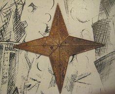 1 Vintage Heavy Struck Brass 4 Point Star by StarPower99 on Etsy, $3.80