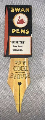 Geelong- Griffith Star Store 'Swan Pens' Vintage Book Mark | eBay My Bookmarks, Swan, Pens, Store, Books, Vintage, Swans, Libros, Larger