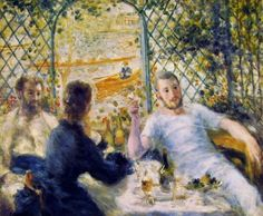 Colazione in riva al fiume, Renoir, 1879, all'Art Institute of Chicago Building, Chicago, olio su tela