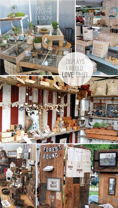 """display ...hmmm recycle wooden pallets and display pieces under glass or acrylic """"lid"""""""