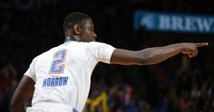 Oklahoma City's Anthony Morrow (2) celebrates a basket during the NBA game between the Oklahoma City Thunder and the Chicago Bulls at Chesapeake Energy Arena in Oklahoma City, Sunday, March  15, 2015. Photo by Sarah Phipps, The Oklahoman