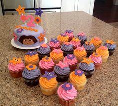 Dora Cake & Cupcakes!