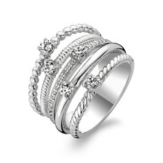 Sterling Silver Multiband Ring