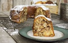 Warm apple cake with cinnamon, walnuts, and whole chunks of apples. A delicious Fall apple cake that can be served as dessert or as a breakfast coffee cake! Greek Sweets, Greek Desserts, Sweet Loaf Recipe, Sweet Recipes, Apple Cake Recipes, Dessert Recipes, Confectionery Recipe, Brownies, Desserts With Biscuits
