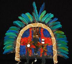 Máscaras etnia Tapirapé - MT MAI Museu de Arte Indígena | Plumária