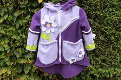 Zipfelpulli -  speedykids - Purple Flower von speedykids auf DaWanda.com