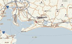 Map of toyohashi